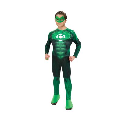 Rubies Green Lantern Standard Deluxe Light Up Muscle Chest Hal Jordan Teen Costume