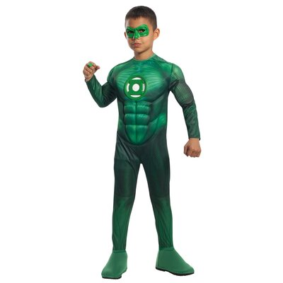 Green Lantern Deluxe Muscle Chest Hal Jordan Child Costume