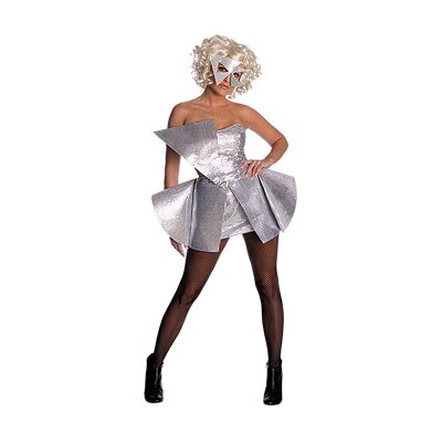 Lady Gaga Sequin Dress Adult Costume in Silver