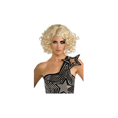 Rubies Lady Gaga Curly Blonde Wig