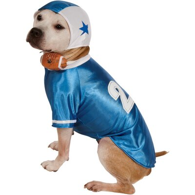 Rubies Blue Football Player Dog Costume