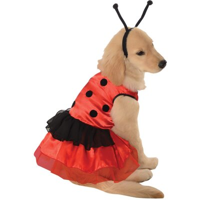 Ladybug Dress Dog Costume