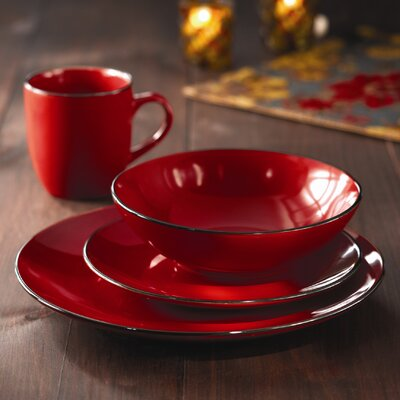 American Atelier Classic Piping 16 Piece Dinnerware Set