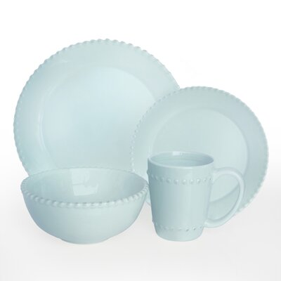 Bianca Beaded 16 Piece Dinnerware Set