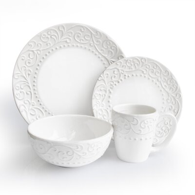 Bianca 16 Piece Dinnerware Set