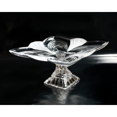Fifth Avenue Crystal Aurora Crystal Pedestal Plate
