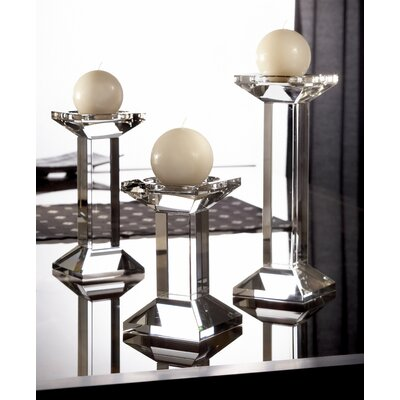 Fifth Avenue Crystal Geneva Square Crystal Candlesticks (Set of 3)