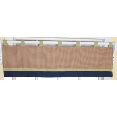 Geenny Baby Boy Constructor Cotton Blend Tab Top Tailored Curtain Valance