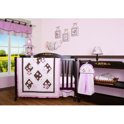Geenny Boutique Butterfly 12 Piece Crib Bedding Set in Pink / Brown