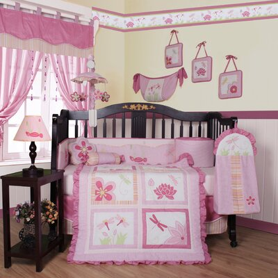 Geenny Boutique Girl Dragonfly 13 Piece Crib Bedding Set