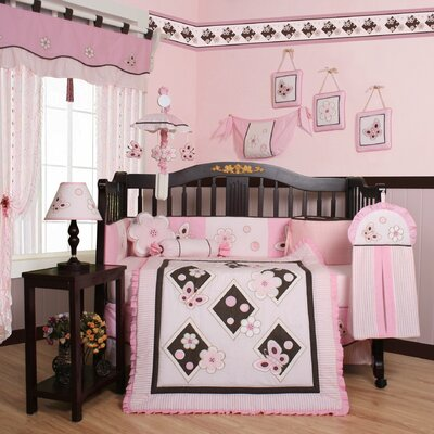 Boutique Butterfly 13 Piece Crib Bedding Set
