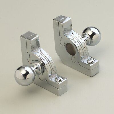 "Zoroufy 72"" Sovereign Tubular Stair Rod Set with Decorative Brackets Ball Finials"