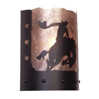 Steel Partners 8 Seconds Timber Ridge 1 Light Wall Sconce