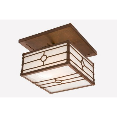 Historic California Drop Semi Flush Mount Ceiling Light