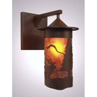 Steel Partners Elk 1 Light Outdoor Wall Lantern