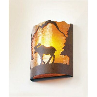 Steel Partners Moose Timber Ridge 1 Light Wall Sconce