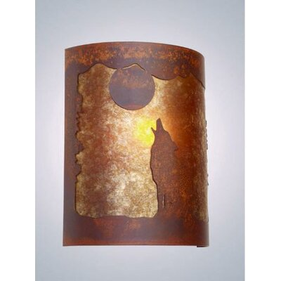 Steel Partners Barking at the Moon Timber Ridge 1 Light Wall Sconce