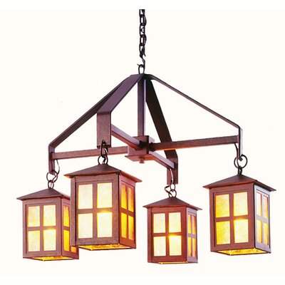 Steel Partners Old Faithful 4 Light  Chandelier