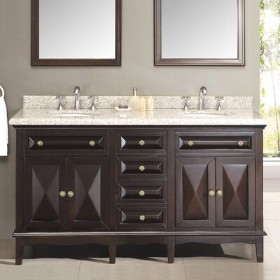 "Ove Decors Venice 60"" Double Bathroom Sink Vanity Set"