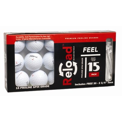 ReLoad Proline with Tees Golf Ball (Set of 15)