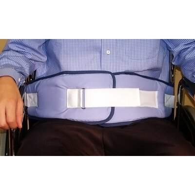NYOrtho Resident-Release Cushion Belt with Velcro Closure in Light Blue