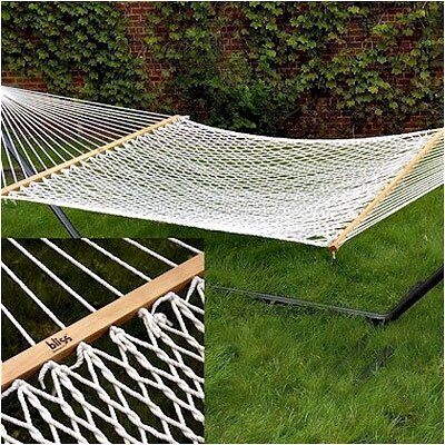 Bliss Hammocks Classic Rope Hammock with Stand