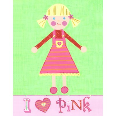 The Little Acorn Pink Girl - Pinky Canvas Art
