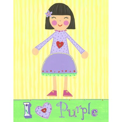 The Little Acorn Purple Girl - Violet Canvas Art