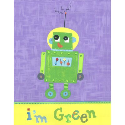 The Little Acorn I'm Green Robot Canvas Art