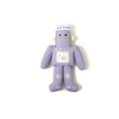 The Little Acorn Purple Robot Shaped Pillow