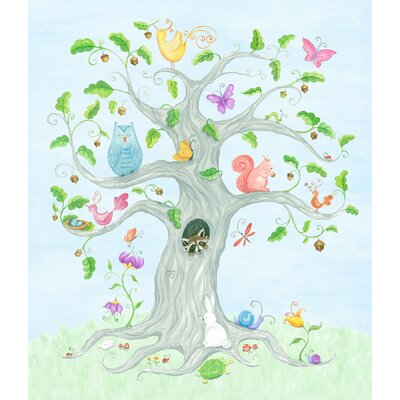 The Little Acorn Wishing Tree Canvas Art