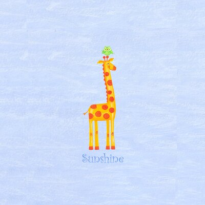 The Little Acorn Alphabet Adventure Sunshine Giraffe Canvas Art