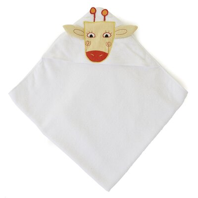 The Little Acorn Funny Friends Giraffe Hooded Towel