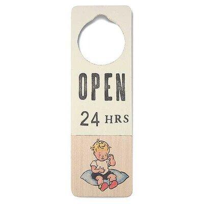 """Tree by Kerri Lee """"Open 24 Hours"""" Door Hanger"""