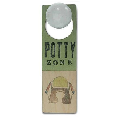 "Tree by Kerri Lee ""Potty Zone"" Wooden Doorknob Sign"