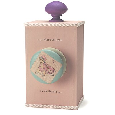 "Tree by Kerri Lee ""Let Me Call You Sweetheart"" Wind Up Music Box in Distressed Pink"