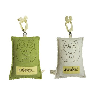 Tree by Kerri Lee Owl Asleep / Awake Door Hanger