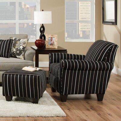 dCOR design Daisy Striped Arm Chair and Ottoman