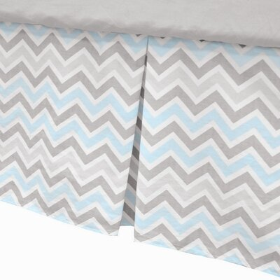 American Baby Company 100% Cotton Percale Tailored with Pleat Crib Skirt