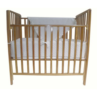 American Baby Company Heavenly Soft 3 Piece Minky Dot Mini Crib Set