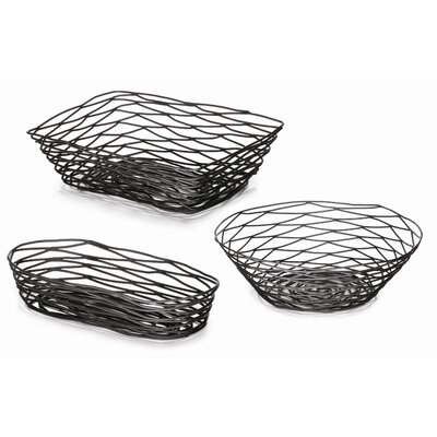 Tablecraft Artisan Coated Metal Baskets (Set of 3)