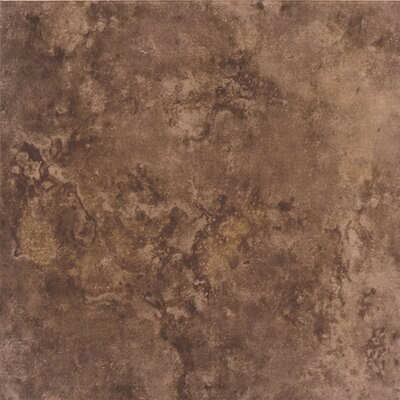 "Interceramic Bruselas 6"" x 6"" Ceramic Wall Tile in Maroon"