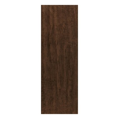 "Interceramic Colonial Wood 20"" x 6"" Ceramic Floor Tile in Walnut"