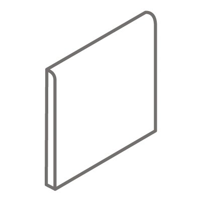 "Interceramic Montreaux 4.25"" x 4.25"" Surface Bullnose Tile Trim in Brun"