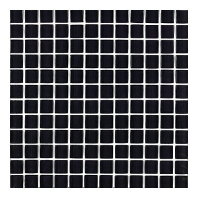 "Interceramic Shimmer 12"" x 12"" Glossy Mosaic in Midnight"