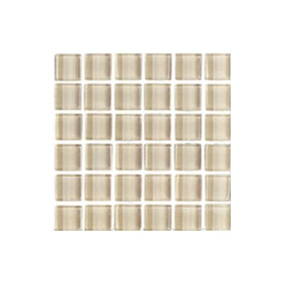 "Interceramic Shimmer 2"" x 2"" Glossy Mosaic in Beach"