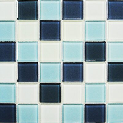 "Interceramic Shimmer Blends 2"" x 2"" Glossy Mosaic in Arctic"