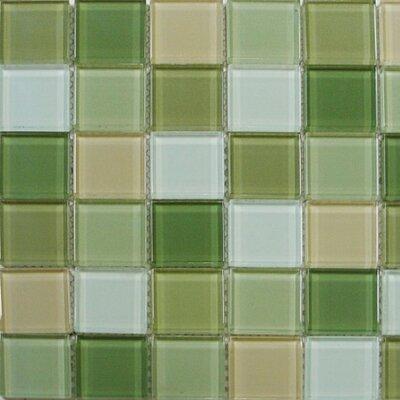 "Interceramic Shimmer Blends 2"" x 2"" Glossy Mosaic in Garden"