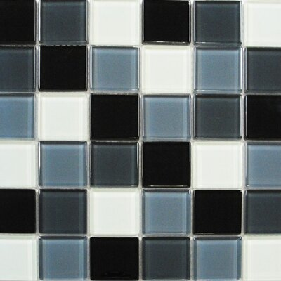"Interceramic Shimmer Blends 12"" x 12"" Glossy Mosaic in Shadow"