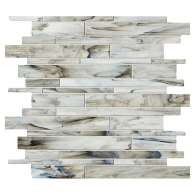 "<strong>Marazzi</strong> Catwalk 12"" x 12"" Random Glass Mosaic in Smokey Stiletto"